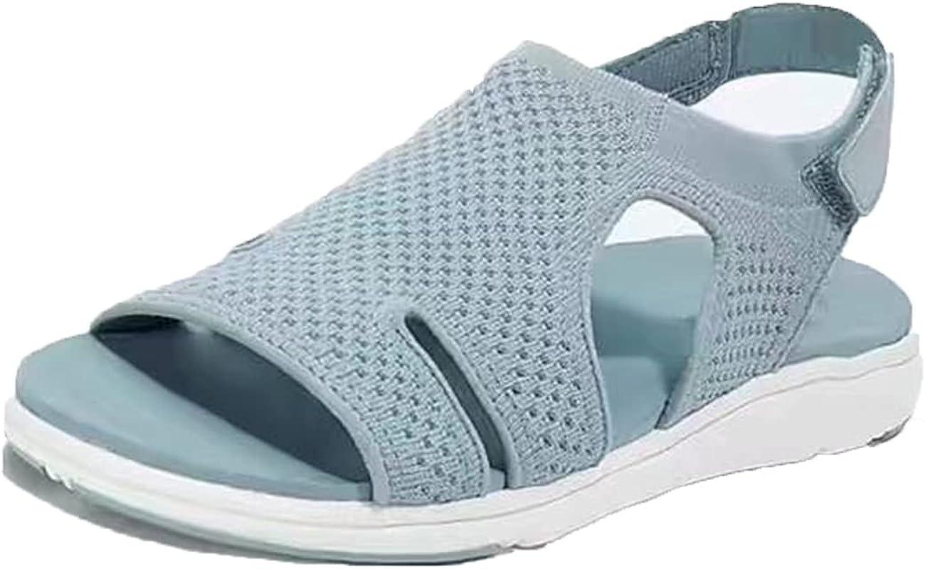 LELEBEAR Gogolot Women Summer Breathable Elastic Sandal, 2021 La