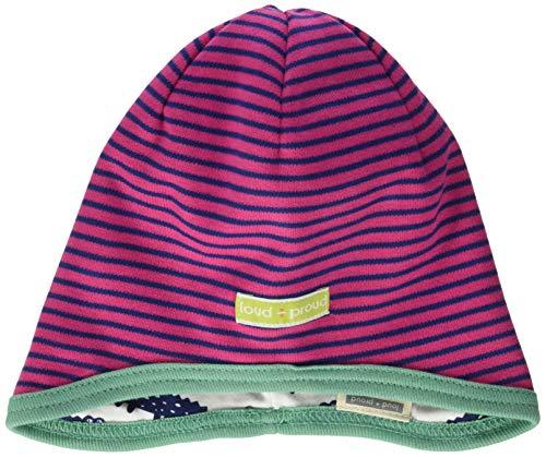 Loud + Proud Reversible Cap Organic Cotton Bonnet, Rose (Azalea Aza), 74/80 Bébé Fille