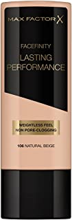 Max Factor Lasting Performance Touch Proof Foundation - 106 Natural Beige by Max Factor for Women - 1.18 oz Fou, 33.4 g