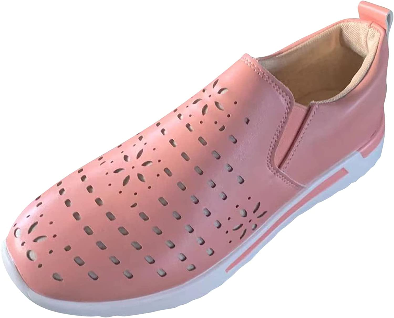 New Women Sexy Shoes Fashion Shoes For Women Mixed Colors Slip-On Womens Platform Wedges Work Shoes No-Slip Comfort Outdoor Walking Sneakers Hollow Out Pumps Single Shoes