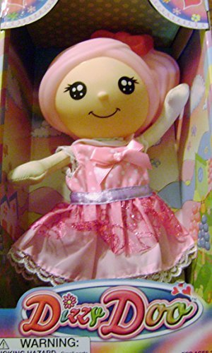 Dizzy Doo Doll Pink Hair Pink Dress With Sparkly Skirt