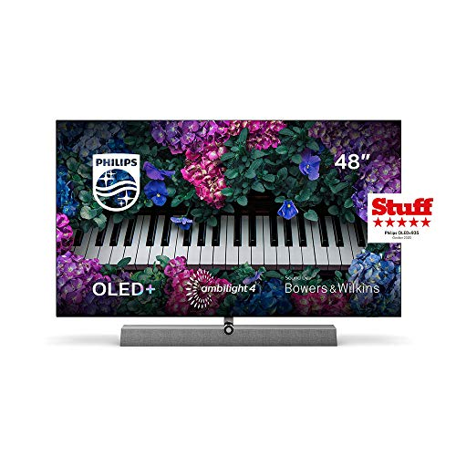 Philips Ambilight TV 48OLED935/12 OLED TV 48 Zoll - 121 cm mit Sound von Bowers & Wilkins (P5 Picture Engine mit KI, 4K UHD, Dolby Vision∙Atmos, Android TV, Triple Tuner) [2020/2021 Modell]