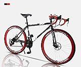 GFF Vélo de Route, vélos 24 Pouces 26 Pouces, Frein à Disque Double, Cadre en Acier à Haute teneur en Carbone, Course de vélo de Route, Hommes et Femmes Adultes