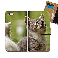AQUOS sense4 lite SH-RM15 ケース 手帳型 動物 手帳ケース スマホケース カバー 猫 ねこ ネコ E0318010115505
