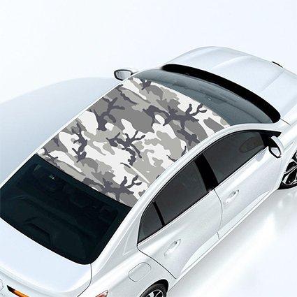 Walltoprint 3M Controltac Vinilo Efecto Camuflaje para el Techo de su Coche. Personalice su vehículo Usted Mismo. Material Libre de Burbujas de fácil aplicación.