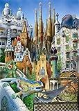 Educa Borras - Serie Miniature, Puzzle 1.000 piezas, Collage Obras de arte Gaudí (11874)