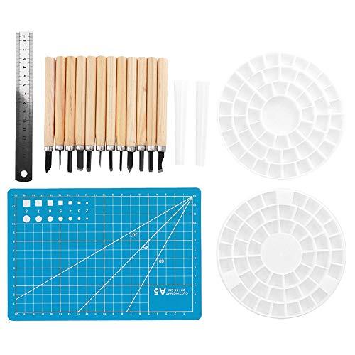 Schnitzwerkzeuge für die Holzbearbeitung Grave Tools Set Hohe Härte 12Stk. 6mm-8,8mm | Mehrere Größen Schnitzutensilien Holzschnitzwerkzeuge für Heimwerker Tischler Hobbyisten