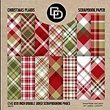 Christmas Plaids Scrapbook Paper (14) 8x8...