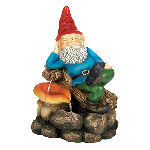 Home Locomotion Relaxing Gnome Water Fountain