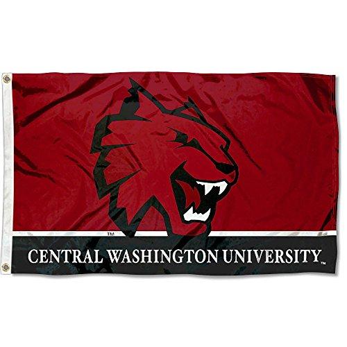 Central Washington Wildcats CWU University Large College Flag