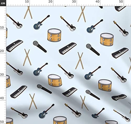 Rockband, Rockstar, Musik, Gitarre, Schlagzeug, Mikrofon, Instrument Stoffe - Individuell Bedruckt von Spoonflower - Design von Quietsnooze Gedruckt auf Baumwoll Spandex Jersey