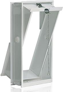 Ventana oscilobatiente: para el montaje en la pared de bloques de vidrio para 2 bloques de vidrio 19x19x8 cm