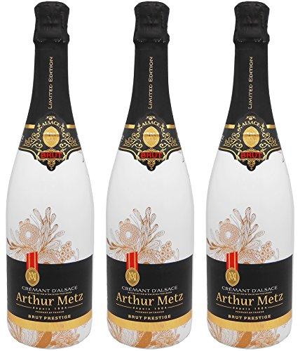Arthur Metz, Brut Prestige Crémant D'Alsace - 3 bottiglie da 750 ml