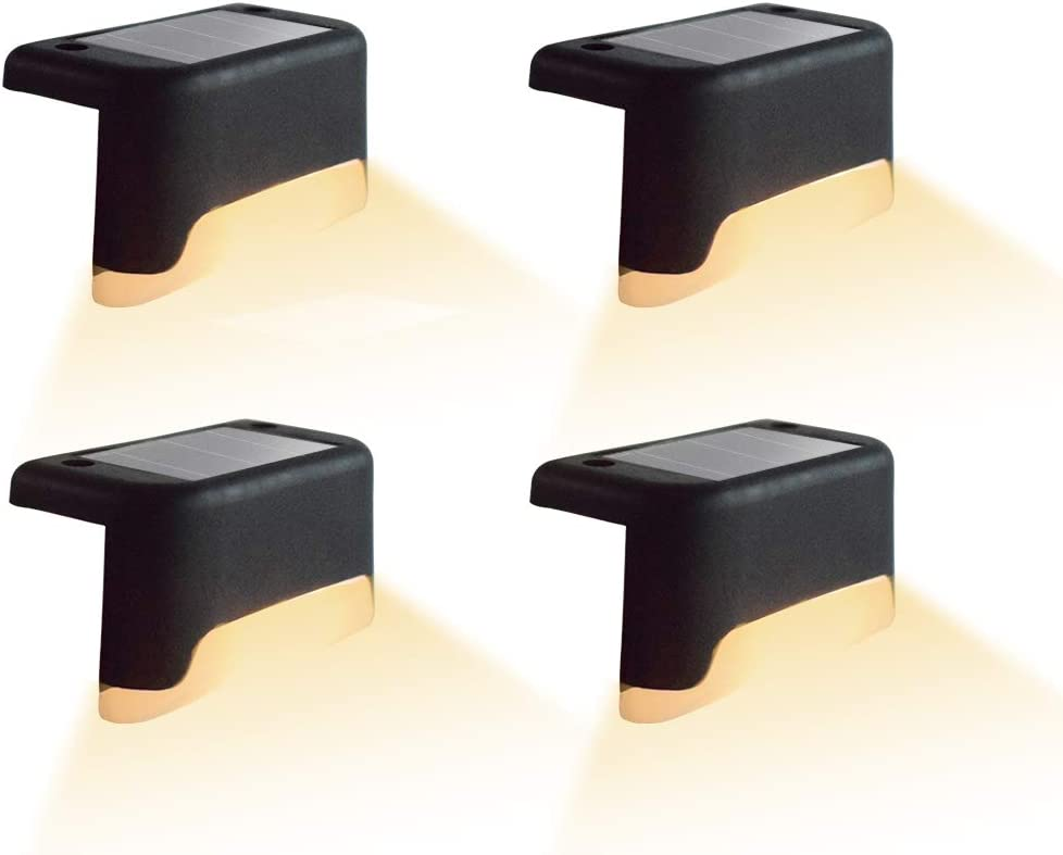 4 Pcs Solar Step Ranking TOP12 Lights IP65 Outdoor Special price for a limited time LED Deck Water