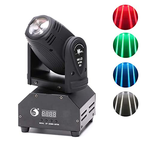 U`King Moving Head Stage Light RGBW (4 in 1) DMX512 Rotating Stage