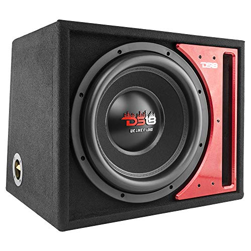 """DS18 Z-VX112LD 12"""" Subwoofer Speaker with Vented Box, 1450W Max Power, 725W RMS, 2 Ohms – Car Audio Bass Speaker Great for High Power Applications"""