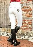 HKM Pantalon d'équitation pour Femme Blink White - 1/1 Alos Taille Unique Blanc.