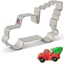 """Ann Clark Cookie Cutters Extra Large Vintage Pickup Truck with Christmas Tree Cookie Cutter, 5"""""""