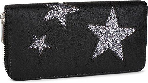 styleBREAKER , Portafogli Nero Negro / Estrella plateada One Size