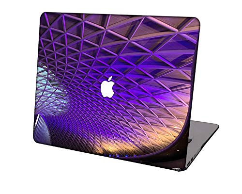 Laptop Case for MacBook Air 13 inch Model A1369/A466,Neo-wows Plastic Ultra Slim Light Hard Shell Cover Compatible MacBook Air 13 Inch No Touch ID,Purple series 0832