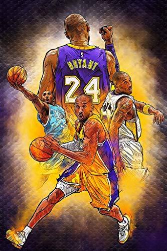 Kobe Bryant Retirement Game Pallacanestro NBA Poster Burnig Desire poster 30,5 x 40,5 cm