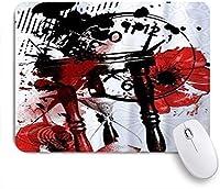 ZOMOY マウスパッド 個性的 おしゃれ 柔軟 かわいい ゴム製裏面 ゲーミングマウスパッド PC ノートパソコン オフィス用 デスクマット 滑り止め 耐久性が良い おもしろいパターン (時間砂時計落書き落書き時計)
