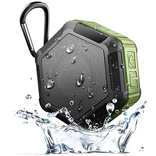 ZUIZUI Altavoz Bluetooth para Exteriores, Subwoofer Inalámbrico Portátil A Prueba De Agua, con Gancho De Seguridad para Acampar, Escucha De Música Durante Mucho Tiempo,Naranja