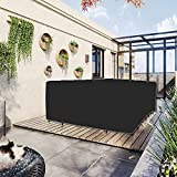 AIBOTY Cubiertas de Muebles de Patio a Prueba de Agua, Conjunto de sofás seccional al Aire Libre Cubre la Mesa al Aire Libre y Las Cubiertas de la Silla, Extra Grandes,Negro,137.8'×102.3'×27.6'