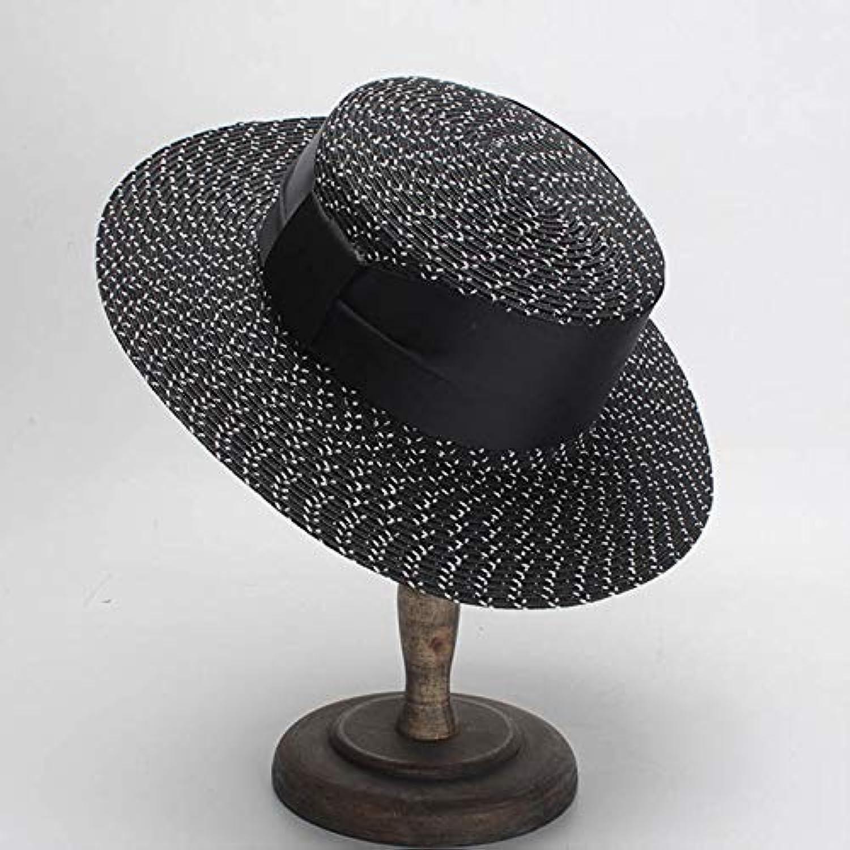 35801fd39 LONLLWK Classical Women Sun Cap Ribbon Bow Paper Straw Hat White ...