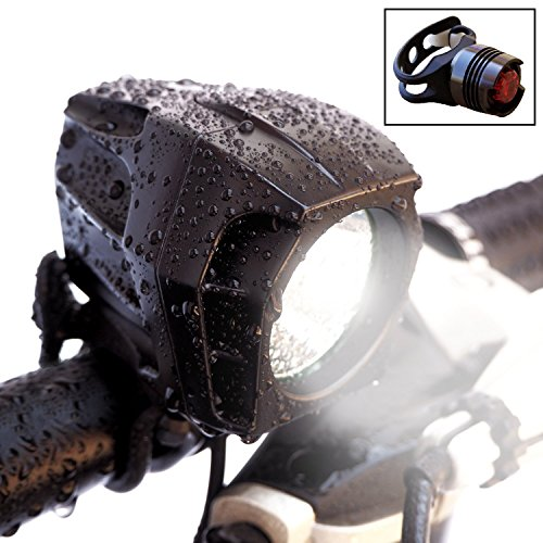 Bright Eyes FULLY WATERPROOF 1600 lumen Rechargeable Mountain, Road Bike...