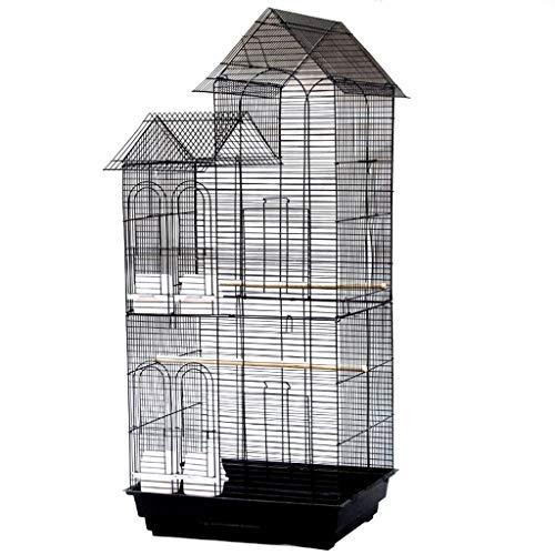 Chenhan Gabbia per Uccelli Gabbia per Uccelli con Stand Grande Costruzione in Ferro Battuto Tetto Grande Grande Volo Birdcage per Parrot Parrot Cockatiel Cockatoo Fringuelli Leggero Traspirante