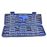 CENPEN Brocas rotatorias – 20 piezas 1 caja SDS Plus taladro eléctrico conjunto de brocas para hormigón y mampostería universal kit de reparación herramientas de ranurado