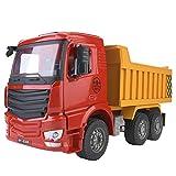 Dilwe Juguete de Camión Volquete, 1:20 Simulación de Plástico Modelo de Camión Volquete Coche Ingeniería Vehículos Niños Juguete