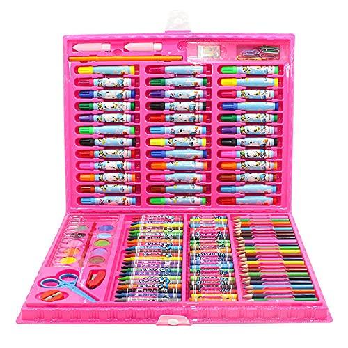Juego de lápices de colores 42/86 piezas de conteo no tóxicos, fácil de sostener color pluma seguro para colorear libro Crayon para niños niños niño niña cumpleaños escuela regalo