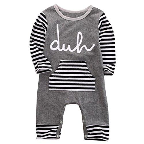 kingko® Newborn Infant Enfants Garçons Filles Imprimer Romper Jumpsuit Bodysuit Outfit Vêtements appropriés pour 0-24 mois bébé (24M, rouge)