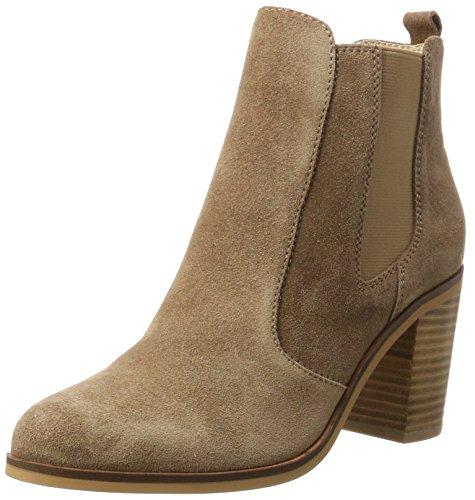 Buffalo London Damen 416-7044 Cow Suede Chelsea Boots, Braun (Tan 01), 38 EU