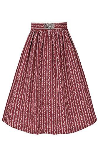 Gwandlalm Damen Broschen Dirndlschürze 65cm bordeaux, Rot, XS
