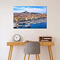 フランス都市景観壁アートポスター家の装飾のためのキャンバスプリント絵画写真50X75cm20x30inchフレームなし