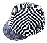 Cloud Kids Baby Kinder Mütze Junge Baseball Cap Hut Streifen Schirmmütze Sonnenhut Blau Größe 42