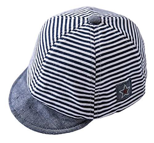 Cloud Kids Baby Kinder Mütze Junge Baseball Cap Hut Streifen Schirmmütze Sonnenhut Blau Größe 44