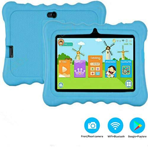 Febelle Tablet para Niños 7 Pulgadas Android 8.1 Tablet Infantil Multilingue 1 GB RAM y 8 GB ROM con WiFi Inalámbrico Google Play Juegos Educativos Regalo para Niños (Azul)