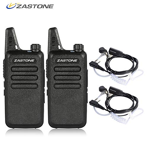 Zastone X6 Rechargeable Long Range Two-Way Radios with Earpiece 2 Pack 3W 16-Channel UHF Walkie Talkies