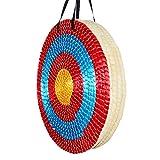 Huntingdoor 50 x 50 cm, redondas, tradicional paja hecha a mano, para tiro con arco, arco largo (50 cm/5 capas).