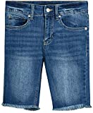 dollhouse Women's Denim Bermuda Shorts with Distressed Look and Frayed Hem, Medium, Size 5