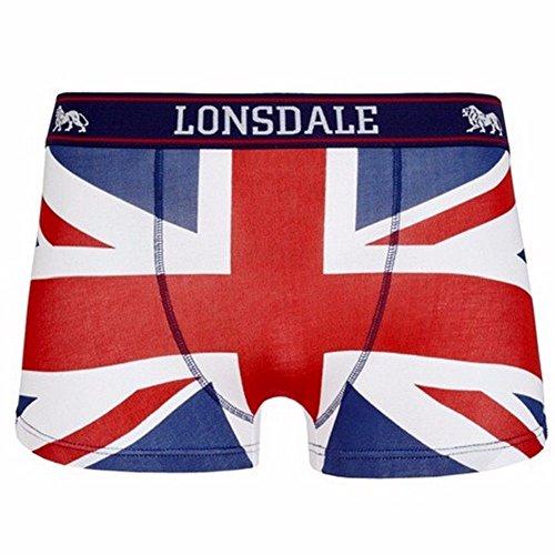 Lonsdale Underwear Boxershorts 2er Pack (XL, Navy/red/White)