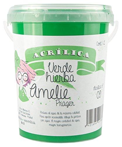 Amelie Prager 1L/09 Pintura Acrílica, Verde Hierba, 1000 ml