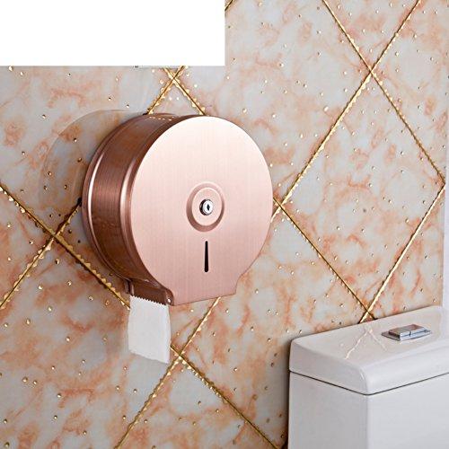 De roestvrijstalen toiletrolhouder/Toiletpapier plank/Grote rollen papier doos/Tissues houder /Badkamer weefsel dozen voor de markt-G