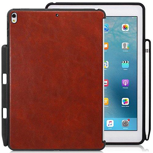 KHOMO Funda iPad Air 3 10.5 (2019) / iPad Pro 10.5 (2017) Carcasa Trasera Ultra Delgada y Ligera Compatible con Teclado y Apple Pencil 1 - Piel Marrón
