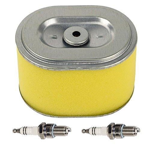 OxoxO Filtro de aire con 2 piezas bujía compatible con Honda GX140 GX160 GX200 5.5hp 6.5hp generador bomba de agua