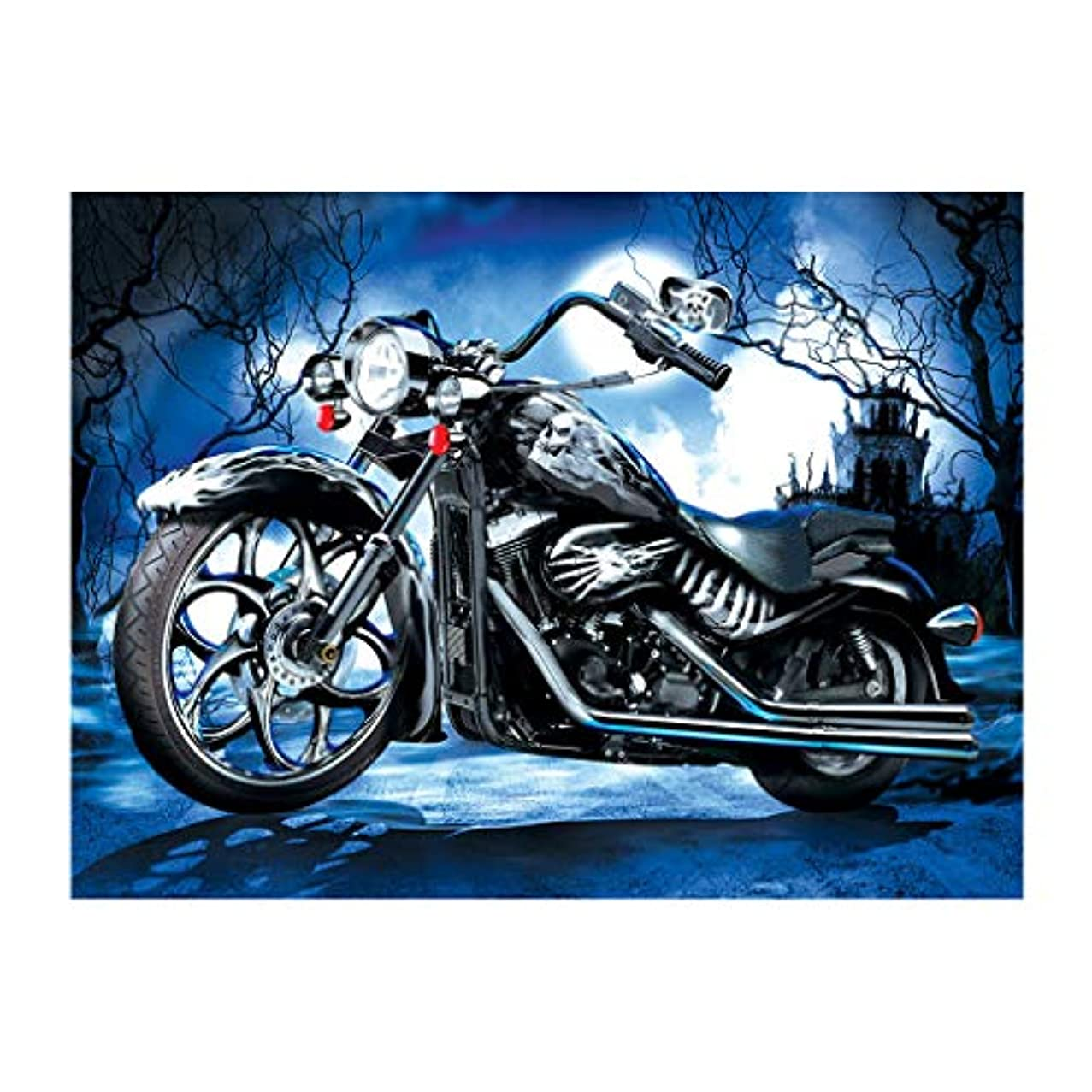 DCIDBEI Diamond Painting 5D,Diamond Embroidery Cross Stitch Motorcycle, Diamond Paintings Rhinestone Embroidery Cross Stitch Kits Supply Arts Craft Canvas Wall Decor Stickers Home Decor 16x12 inches